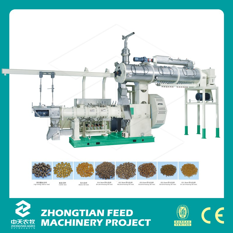 floating fish feed extruder /tilapia feed extrusion/pet food extruding machine