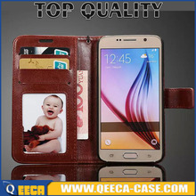 2016 Factory top quality flip case cover for samsung S7,luxury leather wallet case for samsung galaxy S7 photo frame & cash slot
