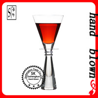 high quality hand blown 215ml lead free crystal cocktail glass with OEM logo ZCTG0401