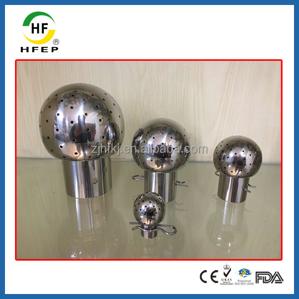 Sanitary Stainless Steel Fixed Cleaning Ball Water Spray Nozzle Head
