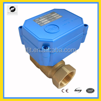 20mm brass water electric control ball valve DC24V for water leakage detector system