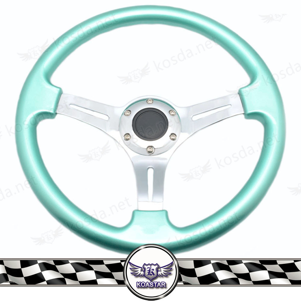 JDM chrome steering wheel , button horn steering wheel