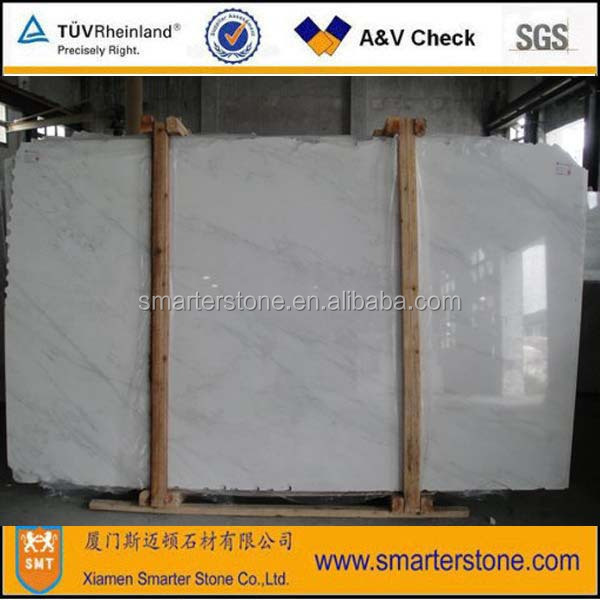 White Marble Slab China Statuario Marble Slab