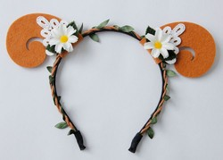 wholesale animal orange sheep ear headband for women party hair accessories