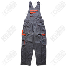 two tone construction bib overalls