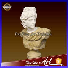 Exquisite apollo marble bust for indoor