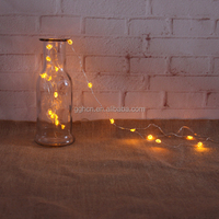 Warm white LED holiday christmas party string copper flower light