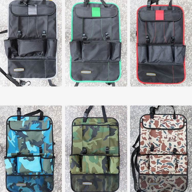 multifunction pockets Polyester folded hanging Car Backseat organizer