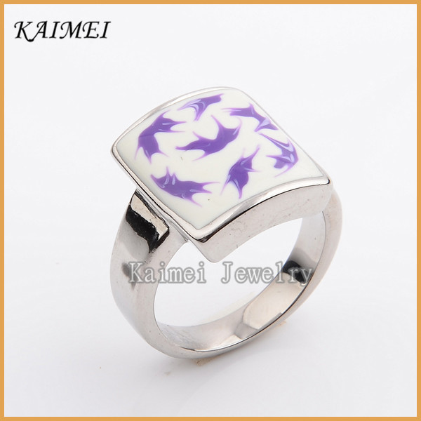 Fashion Jewelry Engagement Wedding Cool Style Casting Square Men's Silver Rings