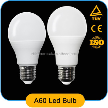 high quality standard A60 led bulb 7w 9w ,Al+pbt ,90lm/w,CRI>80,constant current driver with CE ROHS