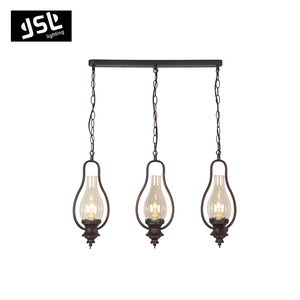 Modern metal antique brass chandelier pendant light