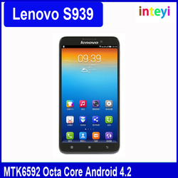Original Lenovo S939 Smart Phone MTK6592 Octa Core 6 inch 3G WCDMA 1GB RAM 8GB Android 4.2 1280x720 8MP Camera GPS Cellphone