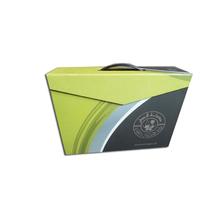 Rigid Cardboard Storage Magnetic Carrying Box With Plastic Handle