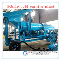 gold washing plant/centrifugal/sluice box /shaking table placer gold ore separator system