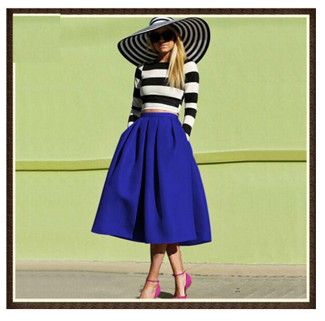 Lady Fashion Skirt Summer 2016 Long Plain Skirts Adult Rainbow Skirt