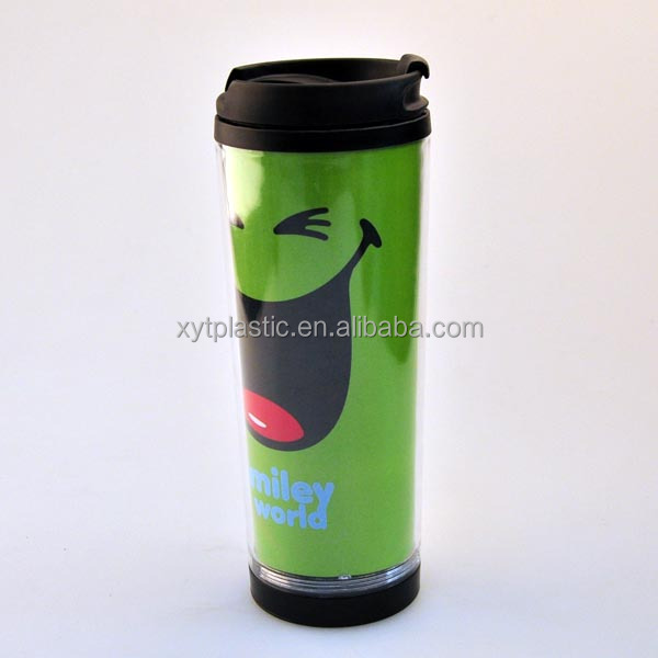 double wall anti spill plastic cups PP plastic coffee cup