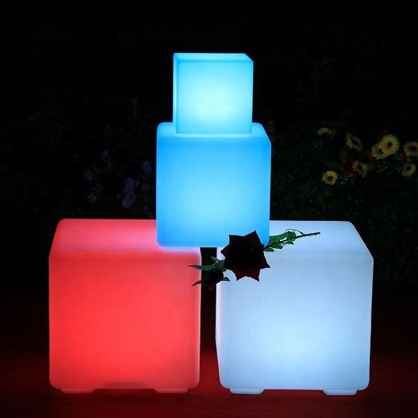 10cm 20cm 25cm 30cm 35cm 40cm 43cm 50cm 60cm 80cm Plastic RGB Color <strong>Led</strong> Cube Light for event party wedding decoration