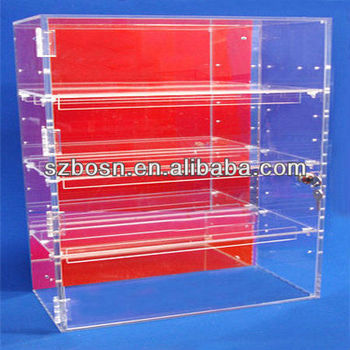 Acrylic shelf display, lucite shelf display shelf display