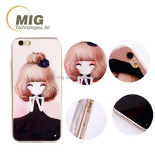 For iphone 6 TPU case Cute girls Cell phone case For iphone 6s 4.7''