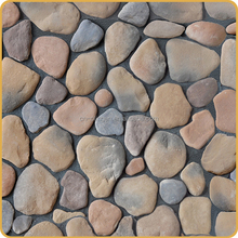 Prefab villa stone wall decking panel