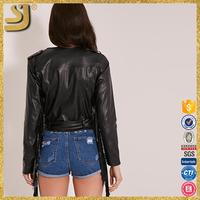Hot selling dubai style leather jacket for wowoman, simple style leather jackets, down jacket leather jacket