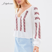 Arabic Embroidery Crinkle Rayon Blouses