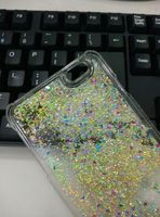 2015 Hot Sell Luxury Colored Following Stars Bling Glitter 3D Liquid Phone Case For Iphone 6 Case