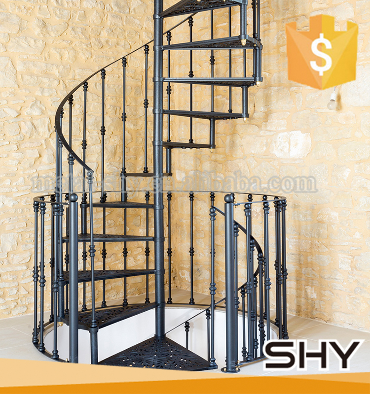Outdoor modern decorative metal used spiral staircase for Aluminum spiral staircase prices