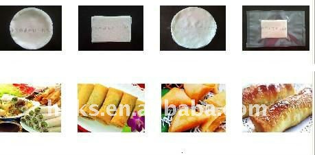Spring roll wrapper machine/spring roll pastry sheet machine/automatic round spring roll square sheet making machine