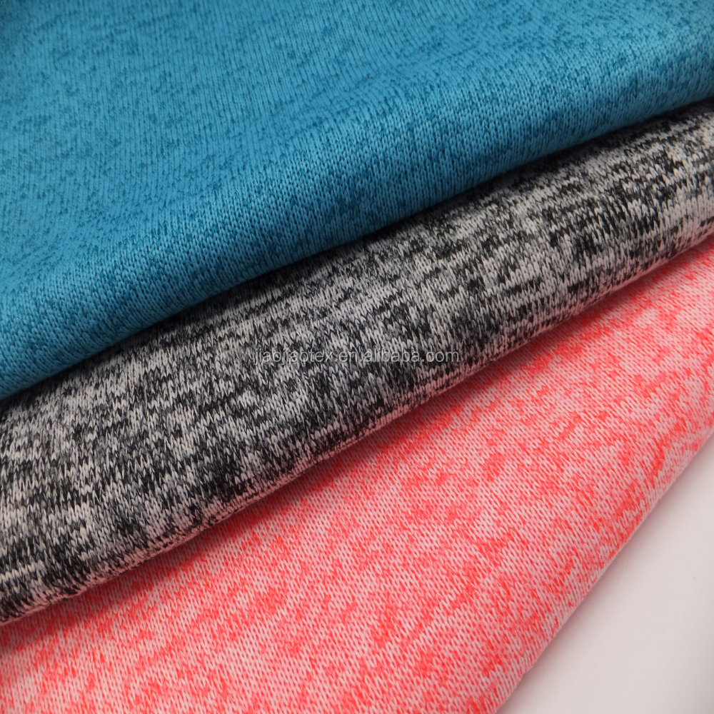 100%polyester coarse knitting cationic sweater fleece fabric for coat