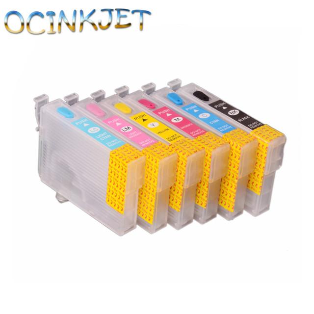 Ocinkjet T0851N - T0856N Empty Refillable Ink Cartridge With Chip For Epson Stylus T60 1390 Printer