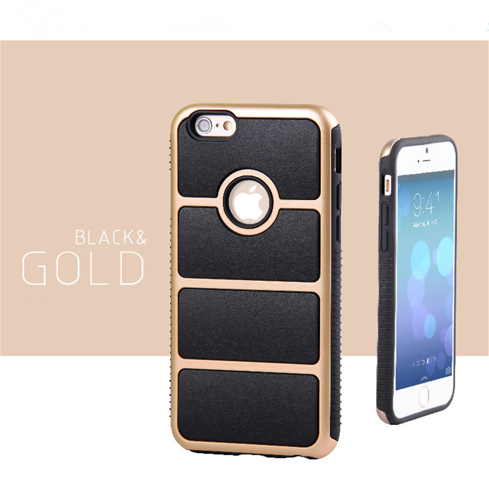 2 in 1 tpu & pc material cell phone case for iphone 6