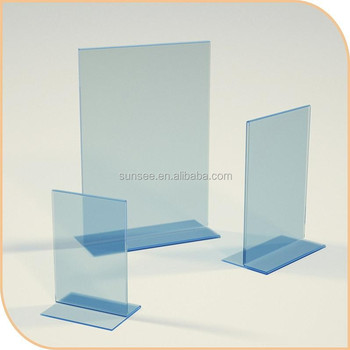 wholesale A4 size Acrylic L shape menu holder ,customized acrylic sign holder new for 2015, MHS-010