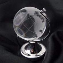 Rotating K9 crystal glass globe