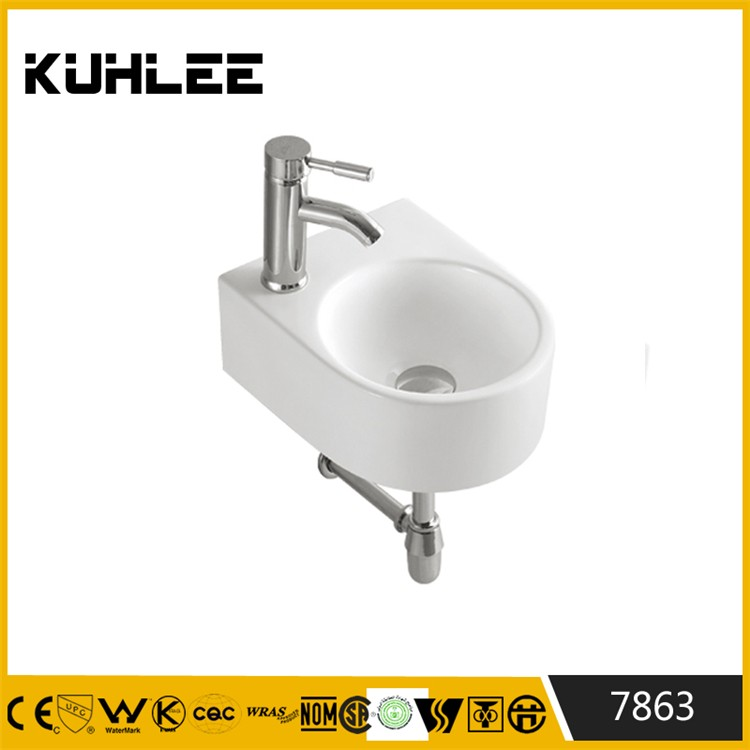 KUHLEE 7863-7867 Small sizes Wall mount wash hand basin cheap