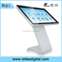 42 Inch stand table touch screen lcd kiosk, all in one kiosk pc