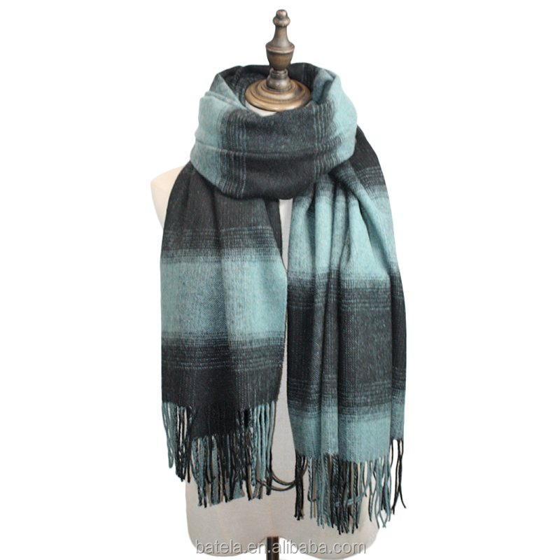 high quality custom plaid cashmere scarf australian merino wool scarf wrap
