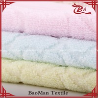 Baoman super soft 100%cotton solid color dyed jacquard towel women towel