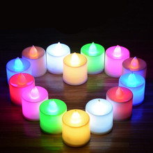 Birthday RGB Remote Controller Rechargeable Tea Light LED Candle christmas candle 24pc/box happy brithday candle
