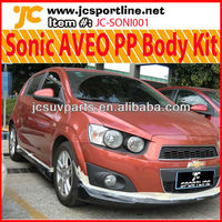 Sonic Hatchback Body Kit for Chevrolet Chevy AVEO PP Bumper Lip Kits
