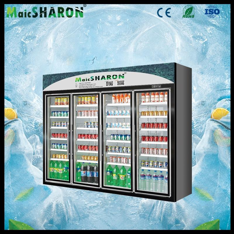 Hot selling supermarket upright display freezer with high quality