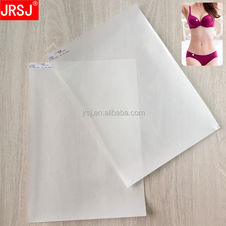 Alibaba best sellers hot melt adhesive glue film with release paper for seamless underwear