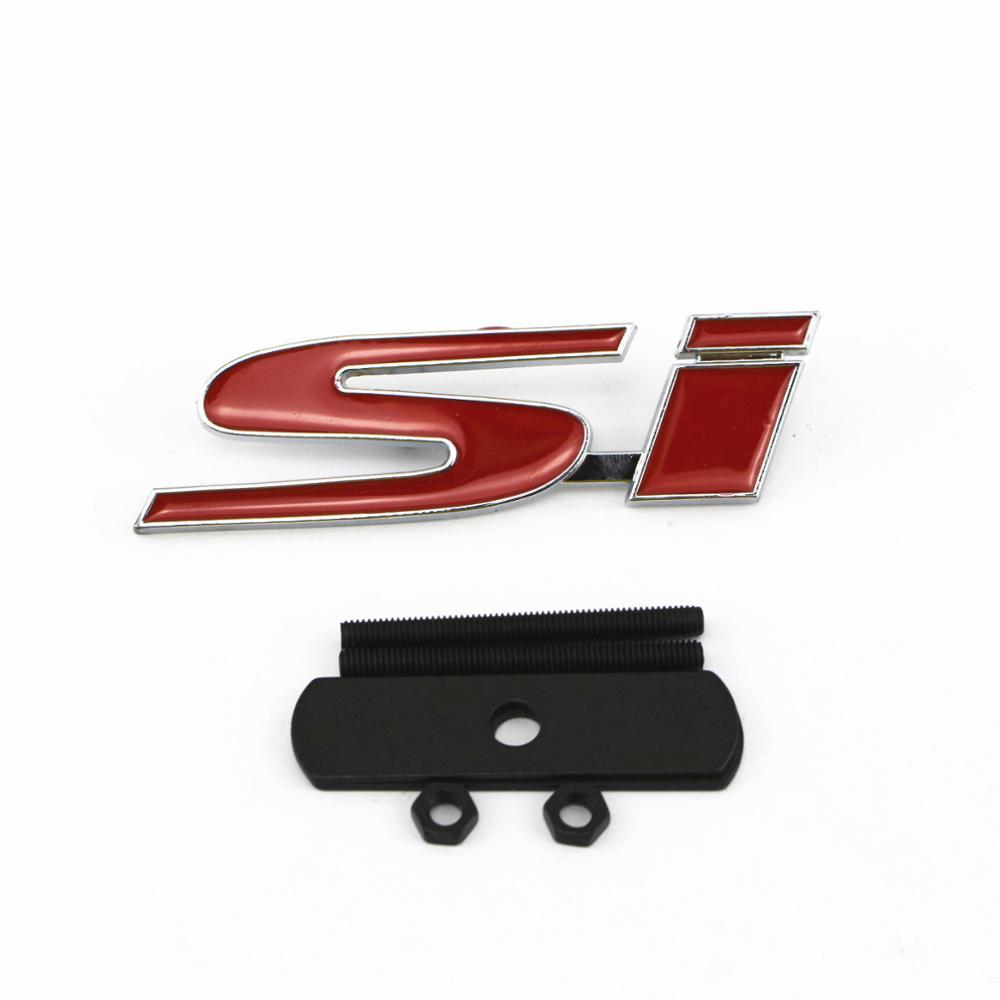 Genuine Si BOOT BADGE Red Emblem