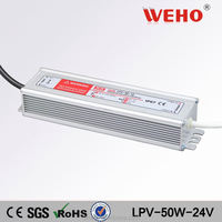 china supplier LPV-50W single output waterproof power supply ip67 led driver