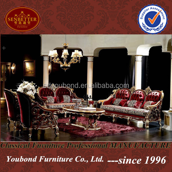 10025 High end home furniture luxury palace italian classic furniture
