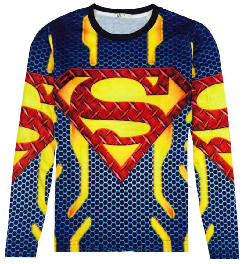 Marvel cartoon super hero cosplay superman t-shirt boys design printing