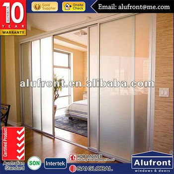 high quality Australia standard moving double glazed commercial glass wall and window in aluminum systems