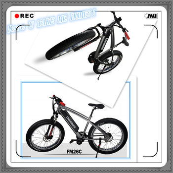 26'' fat tire ebike/fat electric bicycle with 750w bafang crank motor