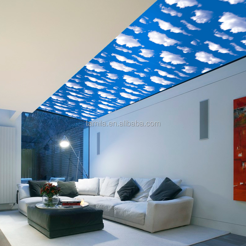 Blue sky design children room PVC wallpaper wall decorative paper waterproof wall sticker