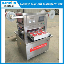 full automatic high quality vacuum food MAP tray sealer machine with nitrogen filling